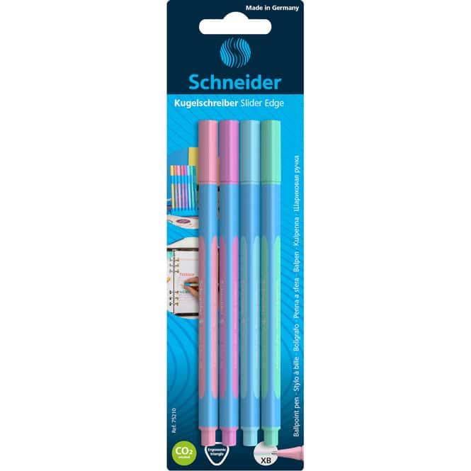 Kugelschreiber - Slider Edge Pastell - 4er-Etui