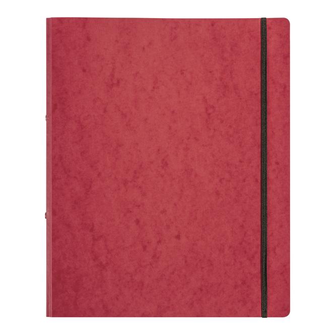 Ringbuch mit Gummizug - DIN A4 - rot
