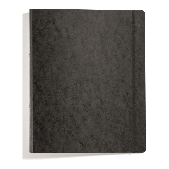Ringbuch mit Gummizug - DIN A4 - schwarz