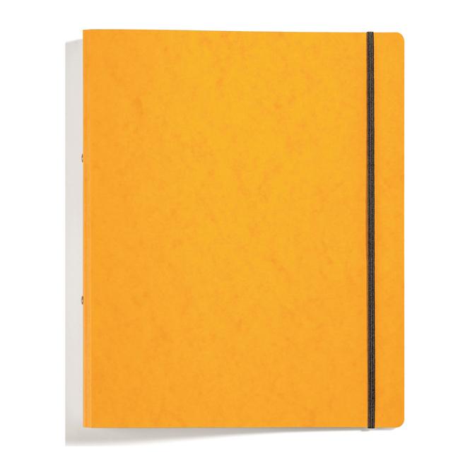 Ringbuch mit Gummizug - DIN A4 - gelb