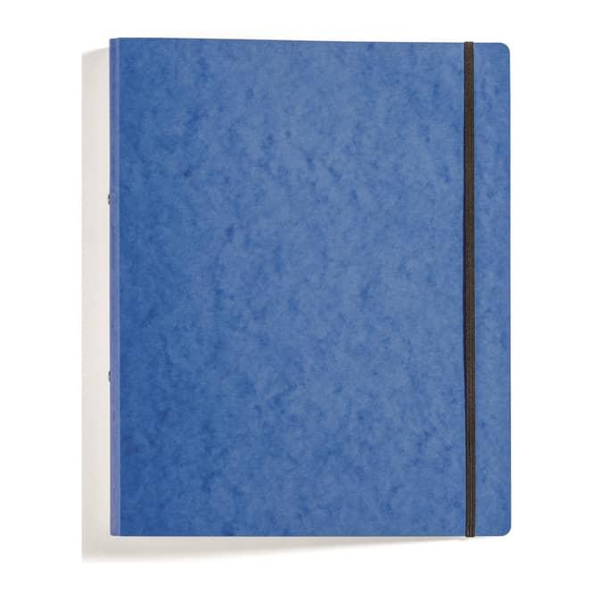 Ringbuch mit Gummizug - DIN A4 - blau