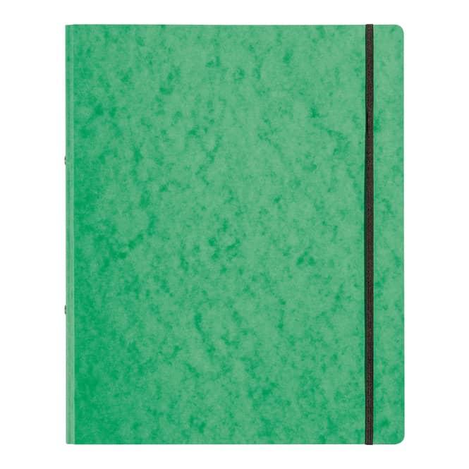 Ringbuch mit Gummizug - DIN A4 - grün