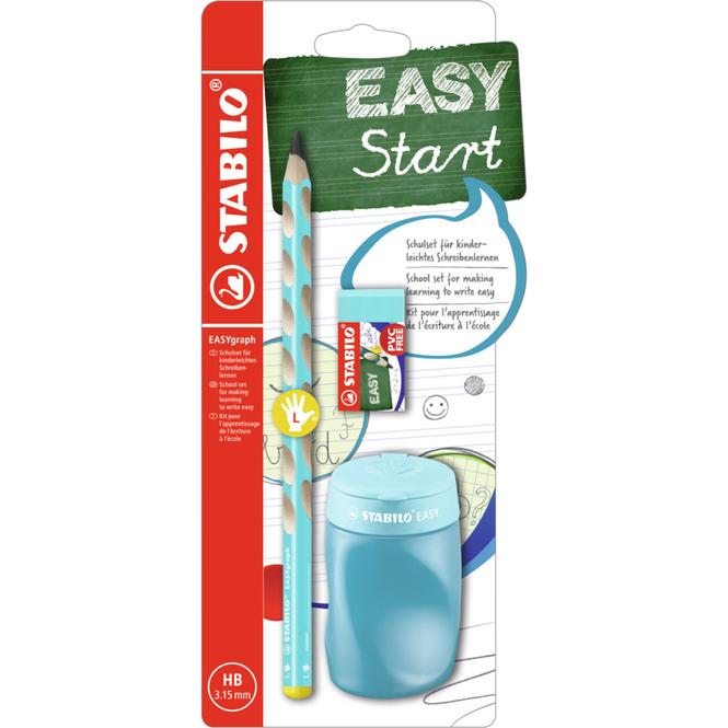 STABILO EASYgraph - Schulset HB für Linkshänder - hellblau