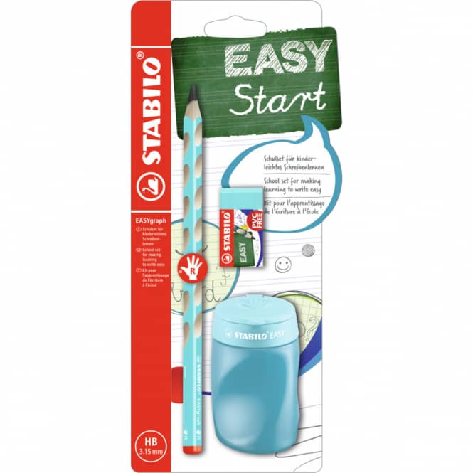 STABILO EASYgraph - Schulset HB für Rechtshänder - hellblau