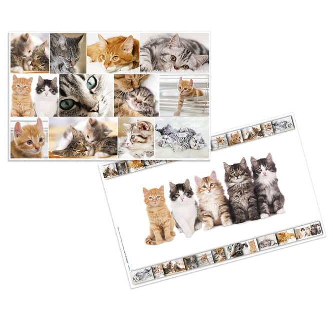 Wende-Schreibtischauflage - Katze - ca. 55 x 35 cm