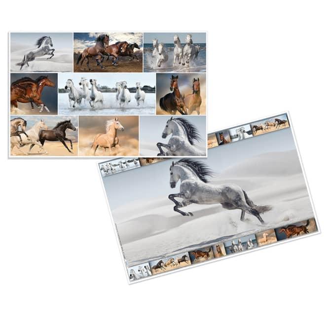 Wende-Schreibtischauflage - Pferde - ca. 55 x 35 cm