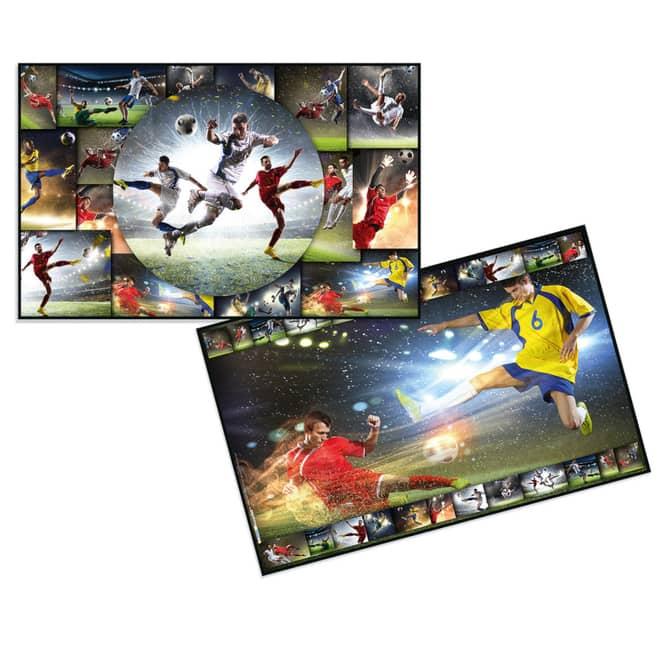 Wende-Schreibtischauflage - Fußball - ca. 55 x 35 cm
