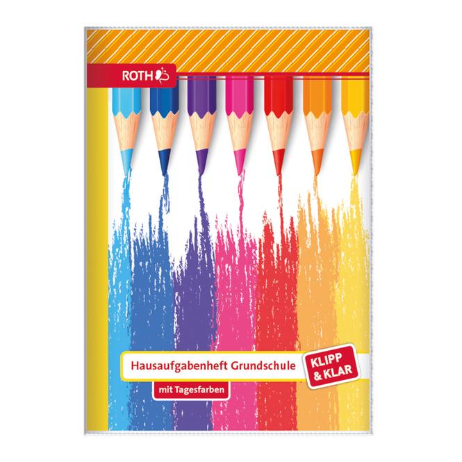 Hausaufgabenheft - Buntstifte - DIN A5