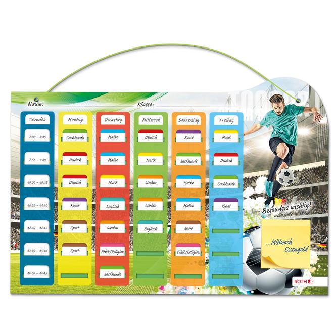 Stundenplan - Steck-Fix - Fußballer