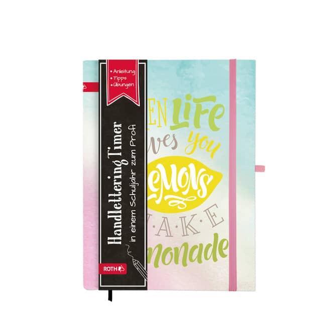 Schülerkalender - Handlettering Timer - Lemon