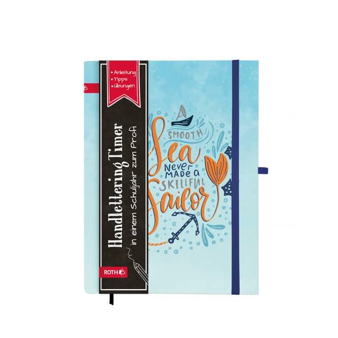 Schülerkalender - Handlettering Timer - Sea