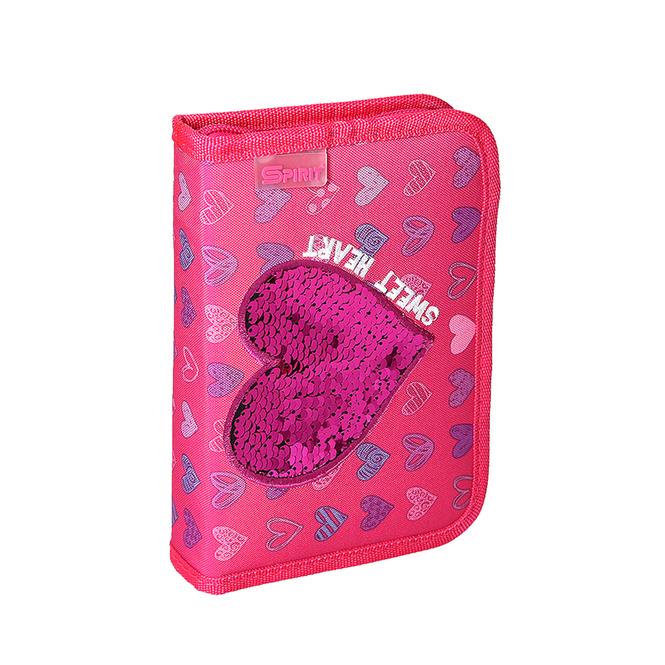 Federmäppchen - Herz - pink