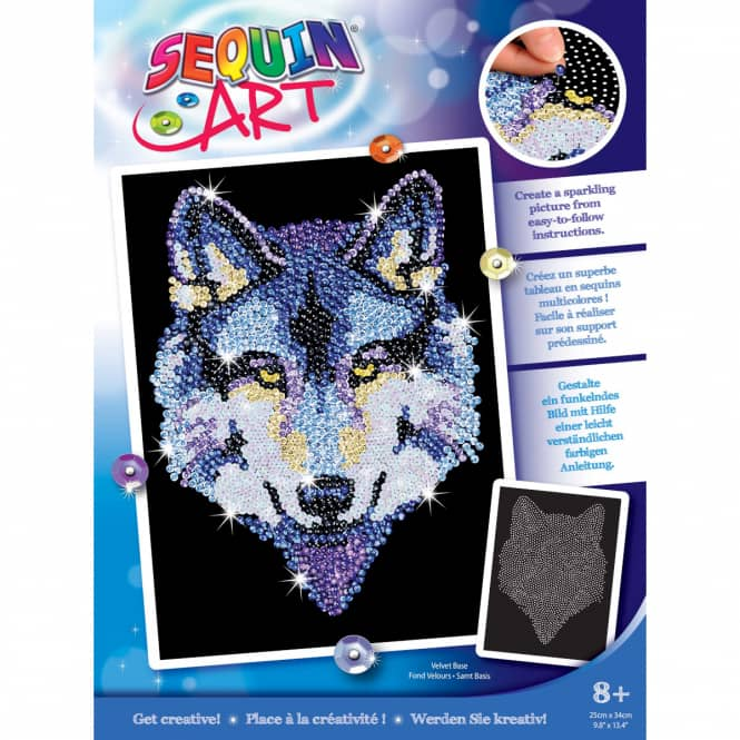 Sequin Art Blue - Wolf