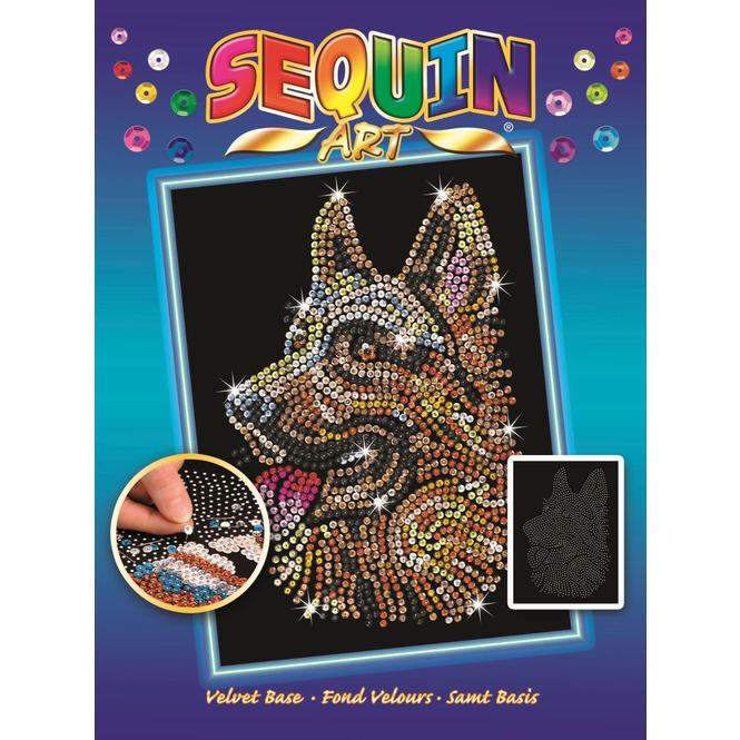 Sequin Art Blue - Deutscher Schäferhund