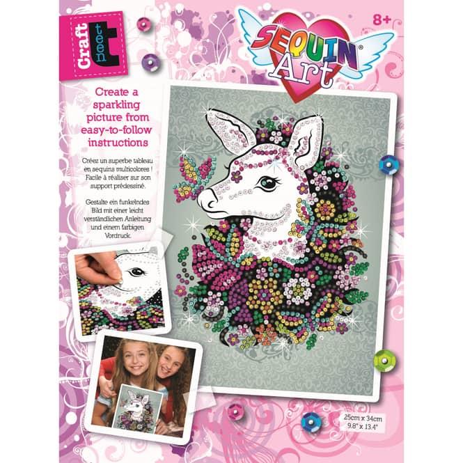 Sequin Art Teen Craft - Hirschkuh