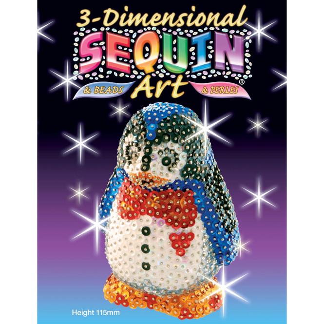 3D Sequin Art - Pinguin