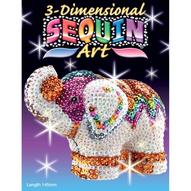 3D Sequin Art - Elefant