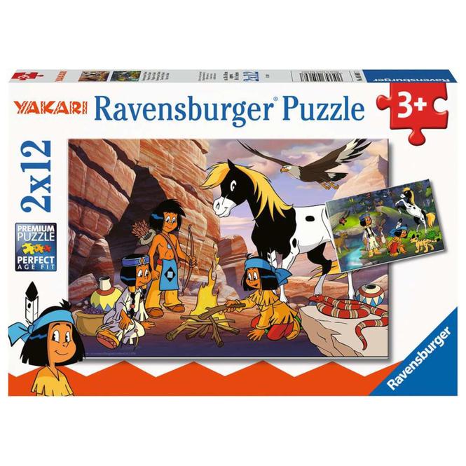 Puzzle-Box - Untwegs mit Yakari - 2x 12 Teile