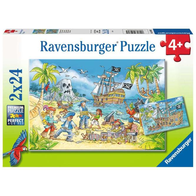 Puzzle-Box - Die Abenteuerinsel - 2x 24 Teile