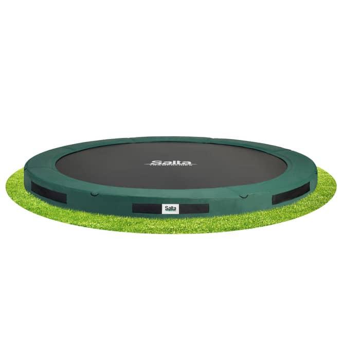 Salta - Bodentrampolin - Premium Ground - Durchmesser 396 cm - grün