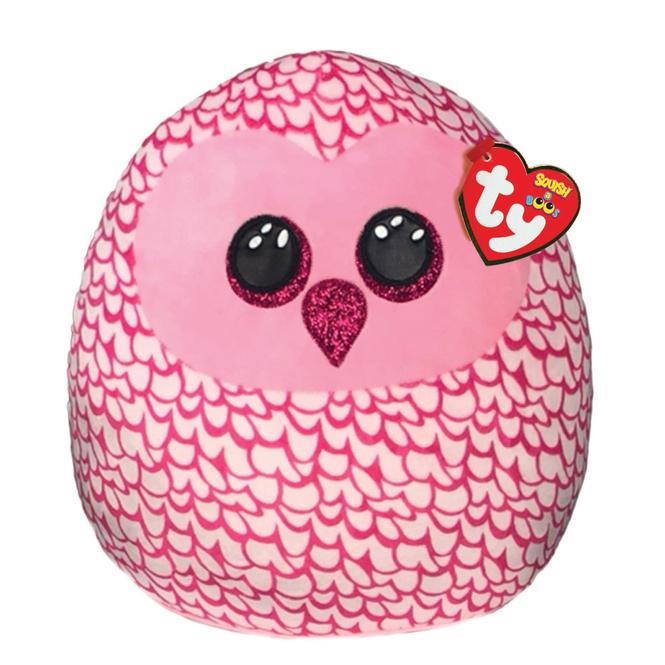 Squish a Boo - Plüsch Kissen - Eule Pinky - ca. 23 cm - Ty