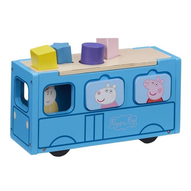 Peppa Wutz - Schulbus - aus Holz