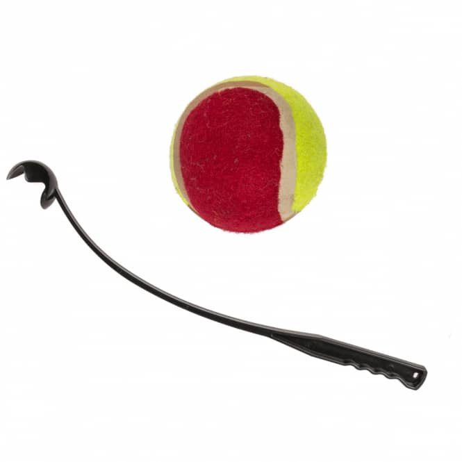 Hundespielzeug - Ballwerfer mit Tennisball -  schwarz