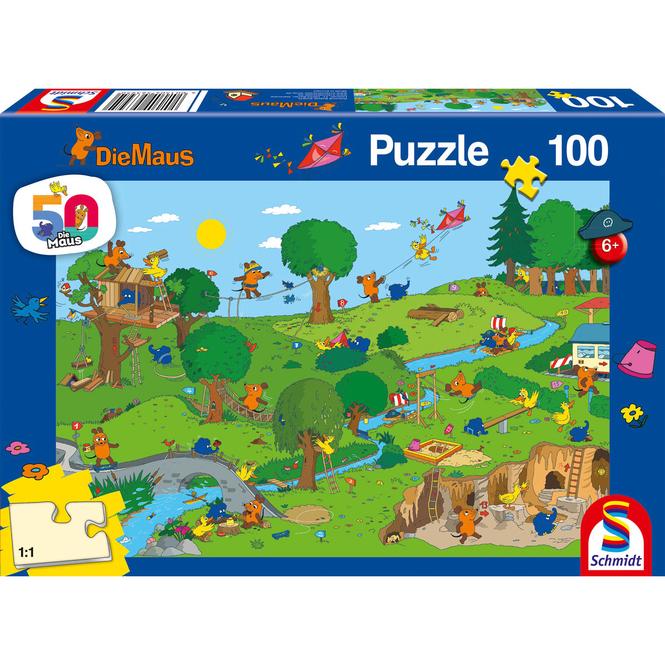 Die Maus - Puzzle Im Spielpark - 100 Teile