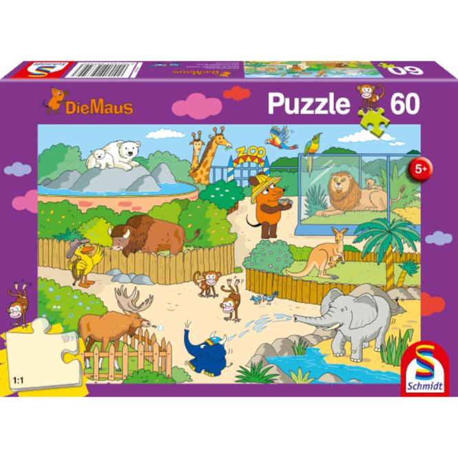 Die Maus - Puzzle Im Zoo - 60 Teile
