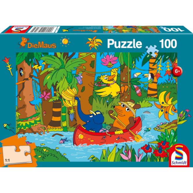 Die Maus - Puzzle Im Dschungel - 100 Teile