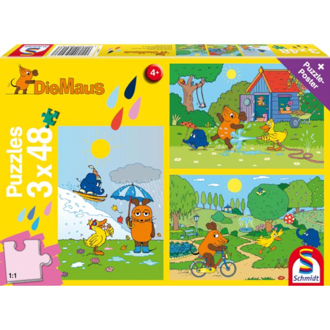 Die Maus - Puzzle Viel Spaß mit der Maus - 3x48 Teile