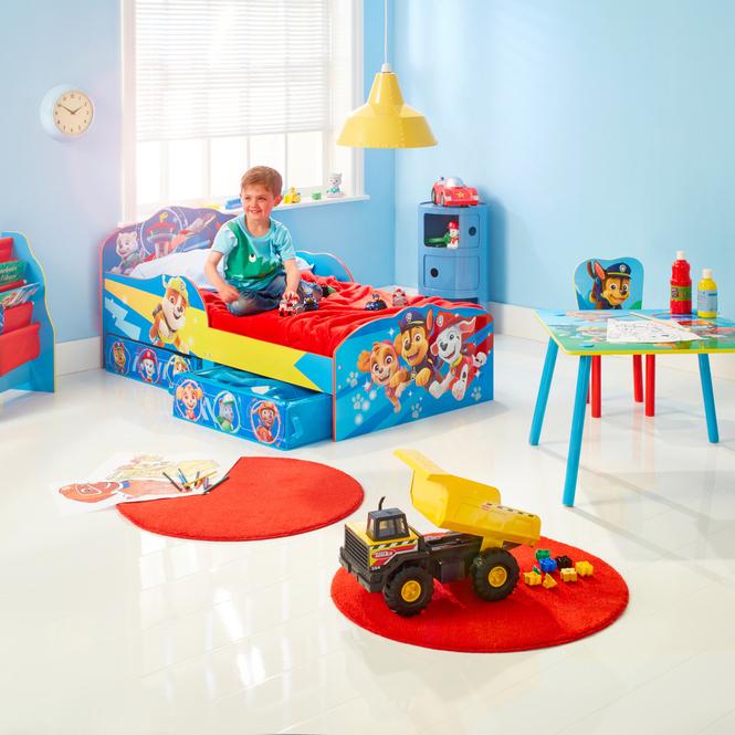 Paw Patrol - Kinderbett mit Stauraum - blau - ca. 70 x 140 cm
