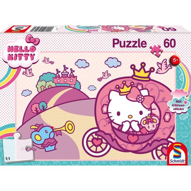 Hello Kitty - Glitzerpuzzle - Prinzessin Kitty - 60 Teile