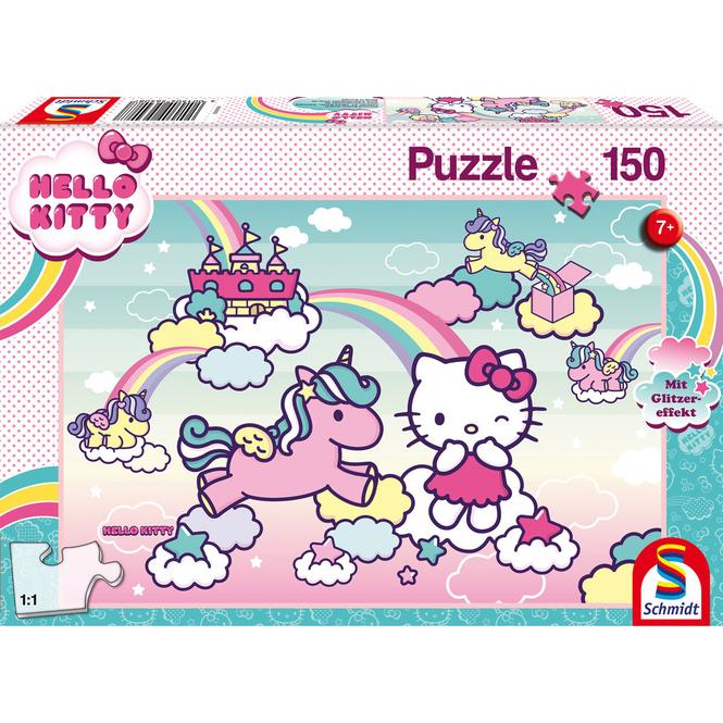 Hello Kitty - Glitzerpuzzle - Kittys Einhorn - 150 Teile