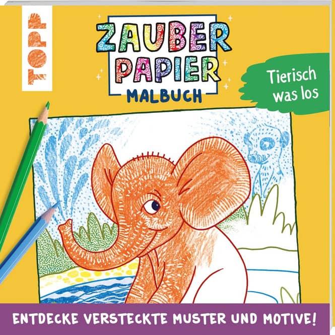 Zauberpapier Malbuch - Tierisch was los