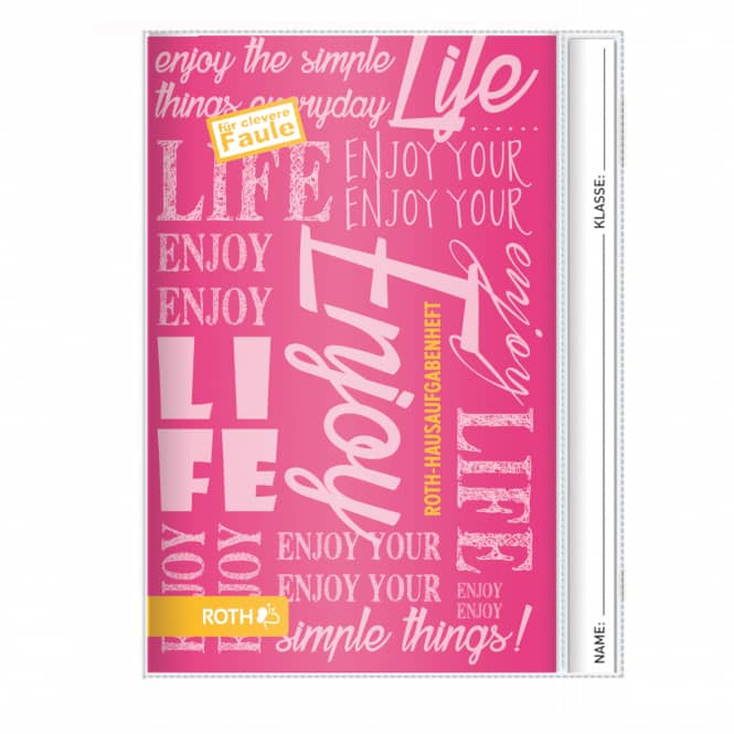 Hausaufgabenheft für clevere Faule - Enjoy Pink - DIN A5