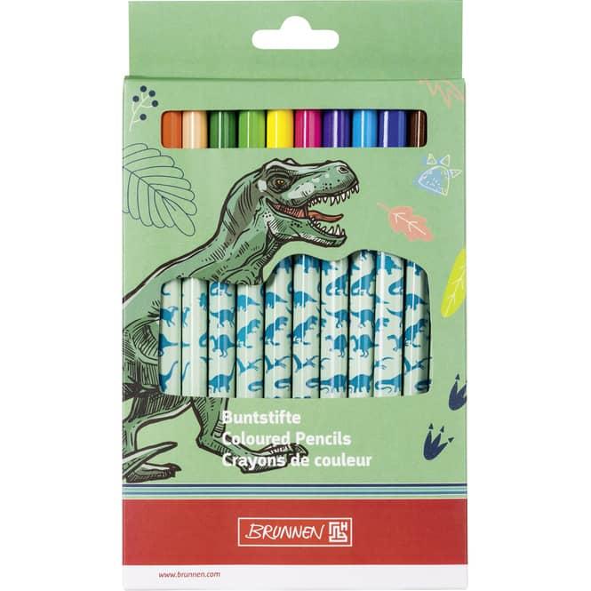 Brunnen - Jumbo Holzbuntstifte - 12 Stück - Dinosaurier
