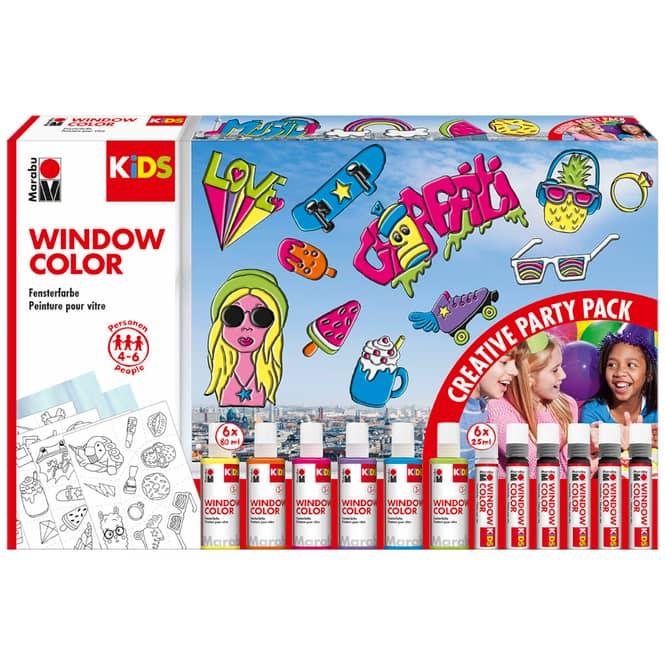 Marabu KiDS - Window Color - Party Pack