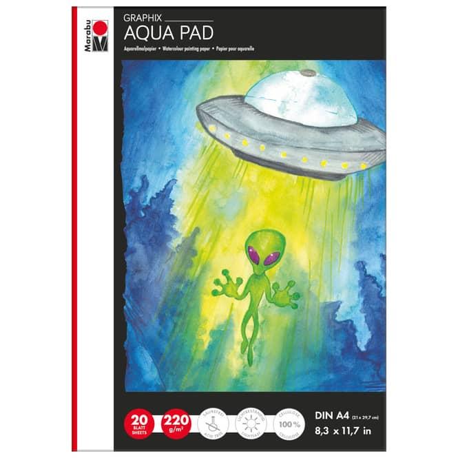 Marabu Graphix - Aqua Pad Aquarellblock - DIN A4