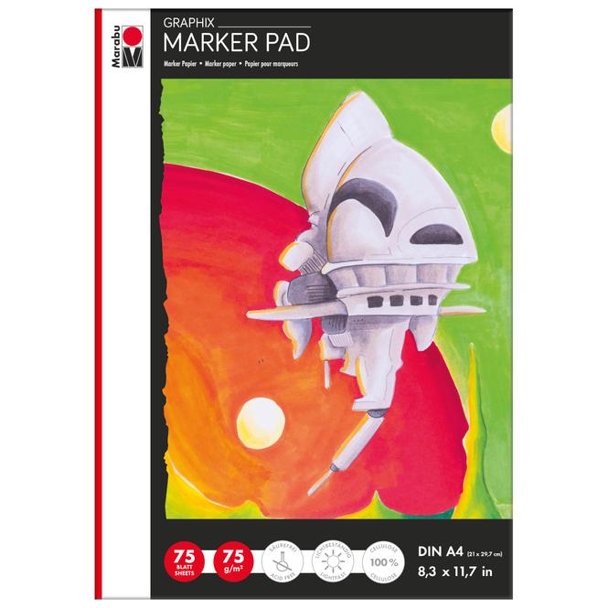 Marabu Graphix - Marker Pad Zeichenblock - DIN A4