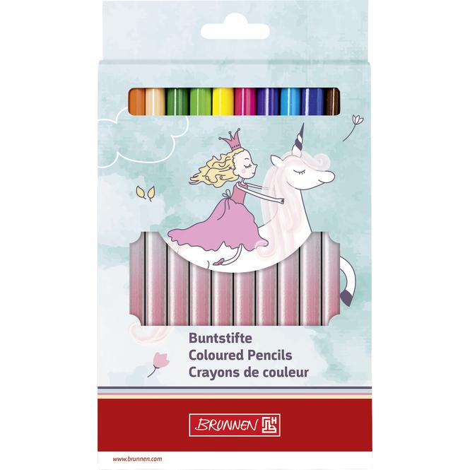 Brunnen - Jumbo Holzbuntstifte - 12 Stück - Unicorn Princess