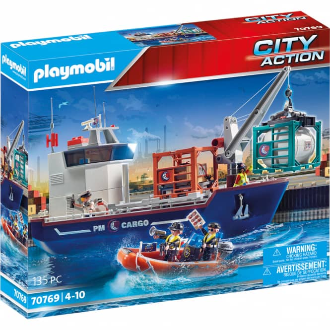 Playmobil® 70769 - Großes Containerschiff mit Zollboot - Playmobil® City Action