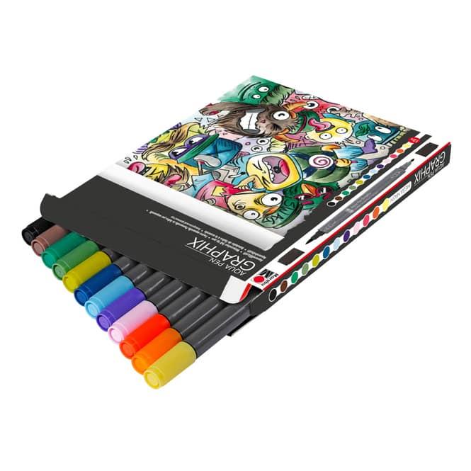 Marabu - Aqua Pen Graphix - Mega Mash - 12 Farben