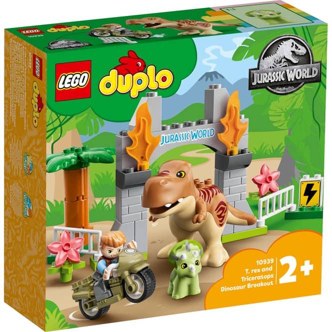 LEGO® DUPLO® Jurassic World™ 10939 - Ausbruch des T-Rex und Triceratops