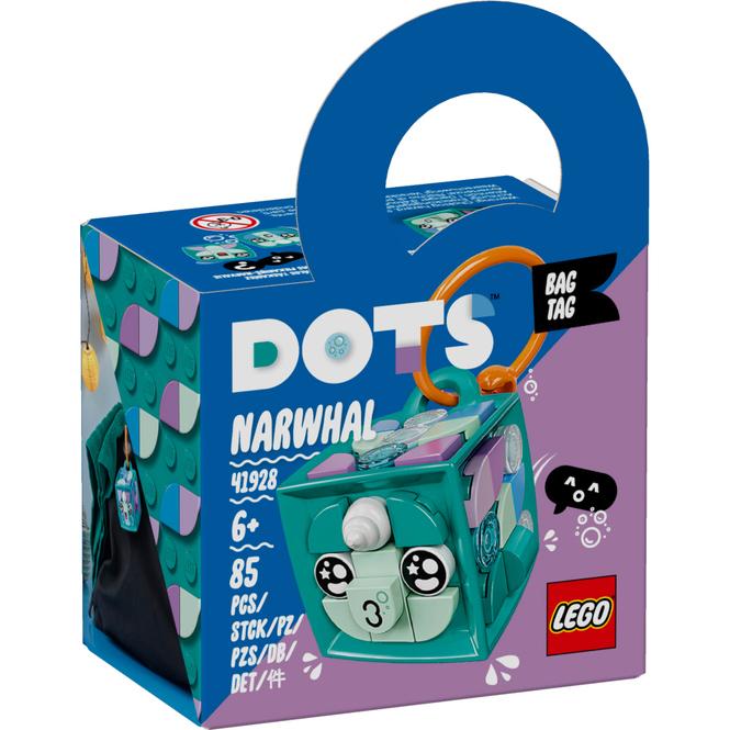 LEGO® DOTS 41928 - Taschenanhänger Narwal