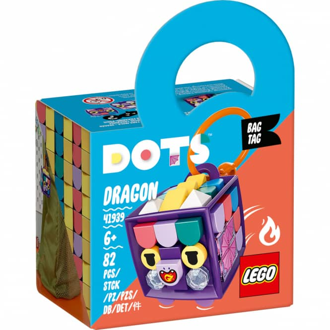 LEGO® DOTS 41939 - LEGO® DOTS Taschenanhänger Drache