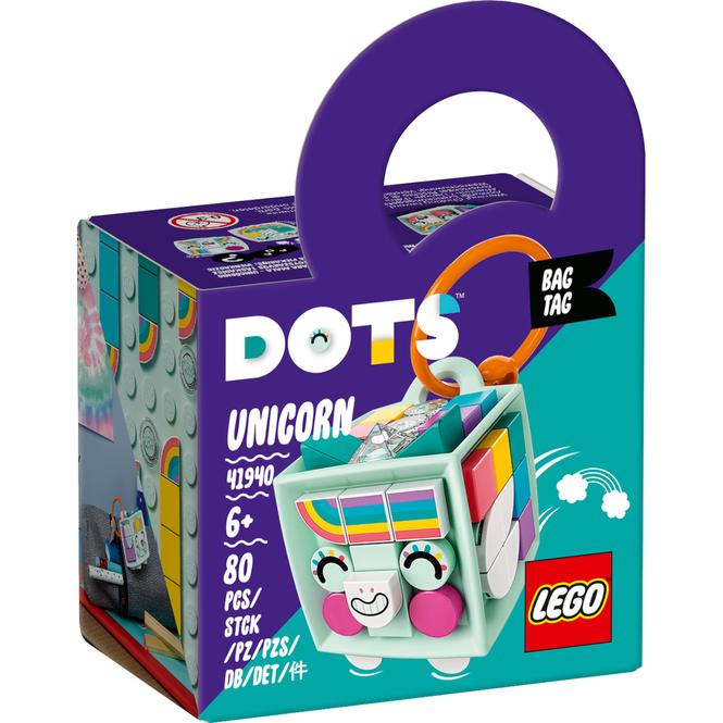LEGO® DOTS 41940 - LEGO® DOTS Taschenanhänger Einhorn