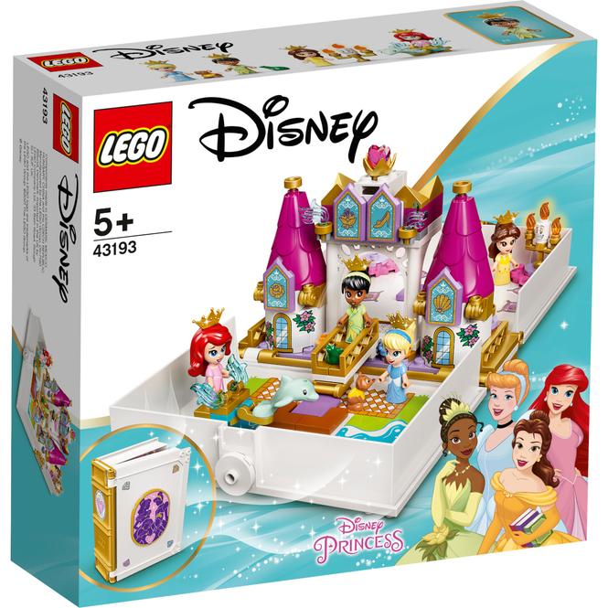 LEGO® Disney Princess™ 43193 - Märchenbuch Abenteuer mit Arielle, Belle, Cinderella und Tiana