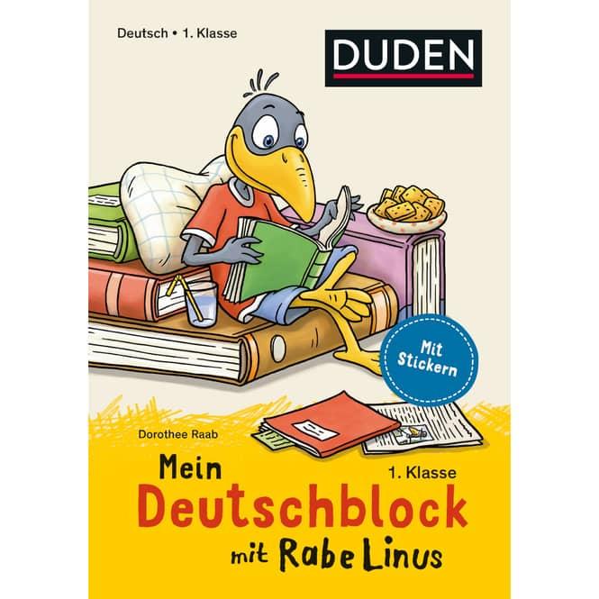DUDEN - Mein Deutschblock mit Rabe Linus - 1. Klasse