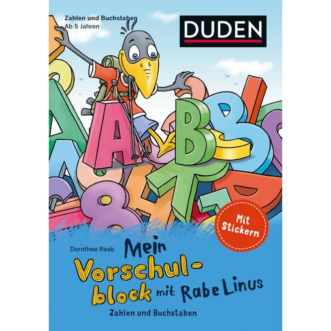DUDEN - Mein Vorschulblock mit Rabe Linus - Zahlen und Buchstaben